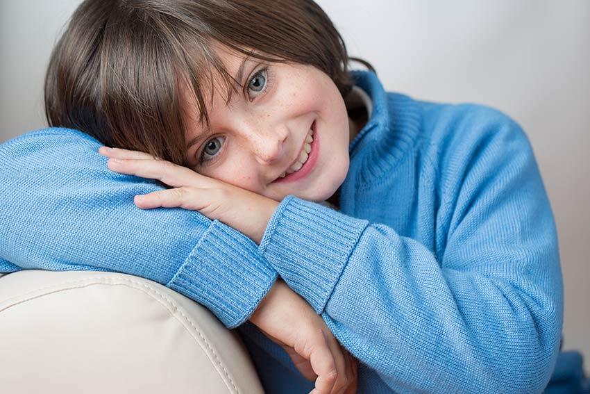 Niños posando sonrientes